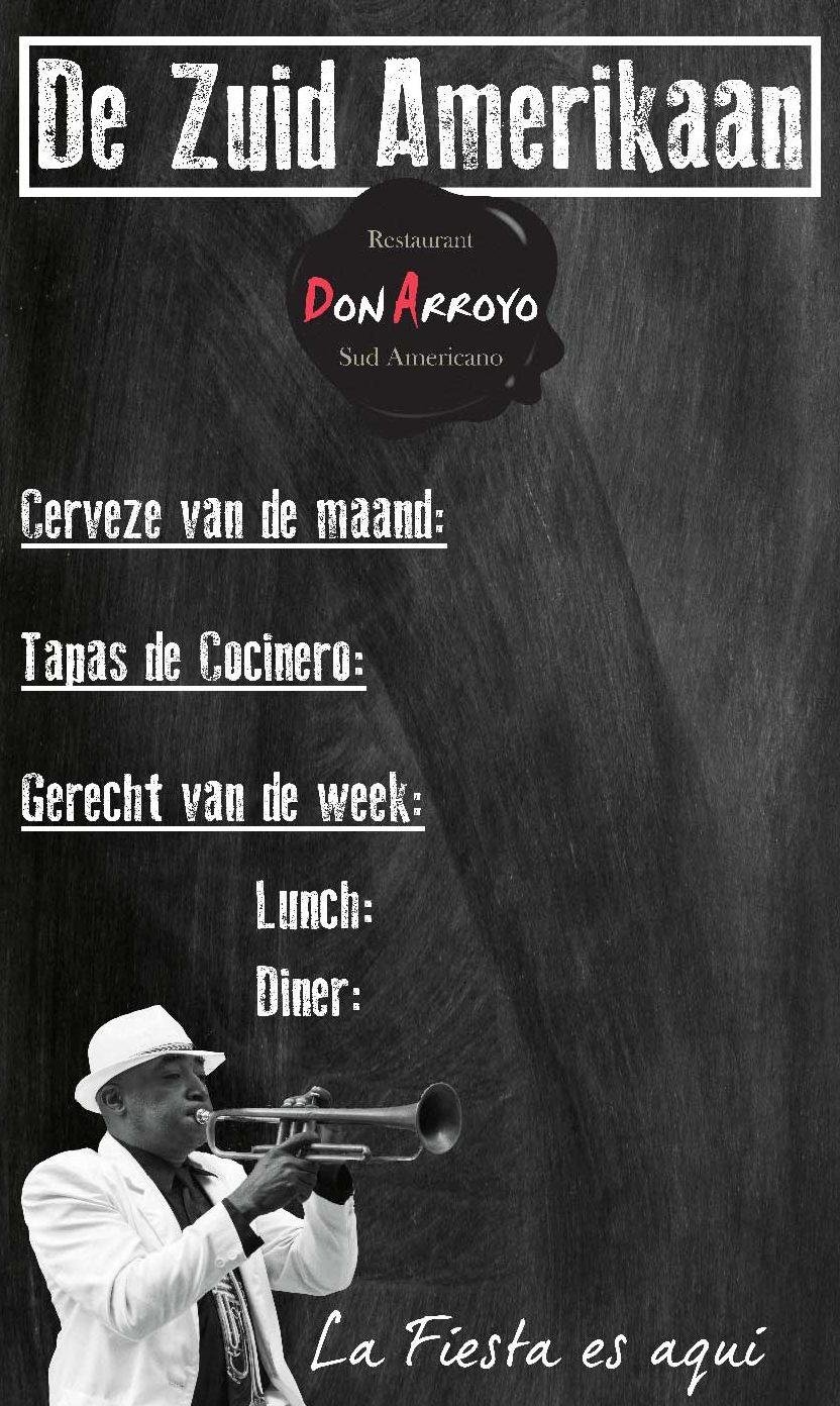 Creativv |Voorbeeld grafisch vormgeving sticker restaurant Don Arroyo: Logo, huisstijl, brochures, visitekaartjes, flyers en online banners ontwerpen